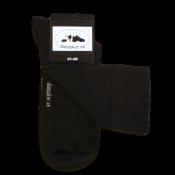 Svarta bambustrumpor med dansskor.se tryckt under foten. Högt skaft. 56c49b7f2591c