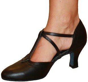 skor med bred läst dam